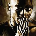 Tupac Shakur Artwork  by Sheraz A