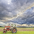 Turbo Tractor Country Evening Skies by James BO  Insogna
