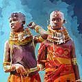 Young Turkana Girls by Anthony Mwangi
