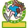 Turkey Run Runner Side Cartoon by Aloysius Patrimonio
