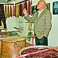 Turkish Rug Salesman Explains About Natural Dye Vats In Weaving Factory In Avanos-turkey  by Ruth Hager