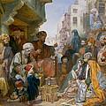 Turkish Street Scene by Amadeo Preziosi