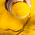 Turmeric Powder At Local Market - Myanmar by Matteo Colombo