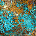 Turquoise Abstract by Chris Scroggins