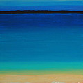 Turquoise Beach Scene Right Side by Robyn Saunders