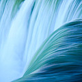 Turquoise Blue Waterfall by Silken Photography