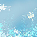 Turquoise Dragonfly Art by Christina Rollo