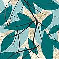 Turquoise Leaves by Lourry Legarde