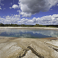 Turquoise Pool In Yellowstone National Park by Fran Riley