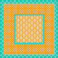 Turquoise Pumpkin Abstract by Bonnie Bruno