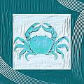 Turquoise Seashells Xix by Lourry Legarde