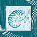 Turquoise Seashells Xxi by Lourry Legarde