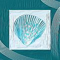 Turquoise Seashells Xxiii by Lourry Legarde