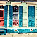 Turquoise Shutters by Sylvia Cook