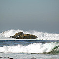 Turquoise Waves Monterey Bay Coastline by Barbara Snyder