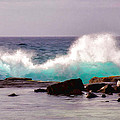 Turquoise Waves by Sabine Edrissi