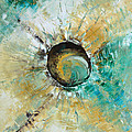 turquoise white earth tones modern abstract MIRACLE PLANET by Chakramoon by Belinda Capol
