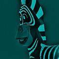 Turquoise Zebra by Rob Hans