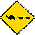 Turtle Crossing Sign by Marvin Blaine