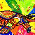 Turtle Pop Art by Julia Fine Art And Photography