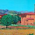 Tuscan Farm Village by Allan P Friedlander