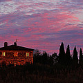 Tuscan Farmhouse And Morning Glow by Greg Matchick