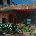 Tuscan Flower Pots by Christina Clare