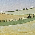 Tuscan Hillside Four by Mary Ellen Mueller Legault