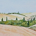 Tuscan Hillside One by Mary Ellen Mueller Legault