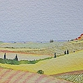 Tuscan Hillside Three by Mary Ellen Mueller Legault