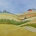 Tuscan Hillside Two by Mary Ellen Mueller Legault