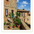 Tuscan Terrace Poster by Mike Nellums