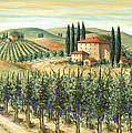 Tuscan Vineyard And Villa by Marilyn Dunlap