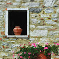 Tuscan Window And Flower Pot by Mike Nellums