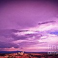 Tuscania Village With Approaching Storm  Italy by Silvia Ganora