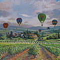 Tuscany Balloon Ride by Raymond Sipos