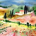 Tuscany Landscape 02 by Miki De Goodaboom