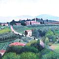 Tuscany Landscape by Jan Matson