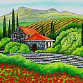 Tuscany Poppies by Val Stokes