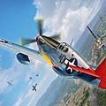 Tuskegee Airmen P-51 Mustang by Stu Shepherd