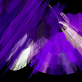 Tutu Stage Left Abstract Purple by Andee Design