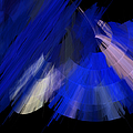 Tutu Stage Left Blue Abstract by Andee Design