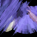 Tutu Stage Left Periwinkle Abstract by Andee Design