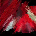 Tutu Stage Left Red Abstract by Andee Design