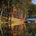 Tuxedo Lake Autumn by Joan Carroll