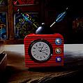 Tv Clock by David Pantuso