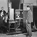 Tv Demonstration At Bell Labs by Underwood Archives