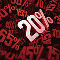 Twenty Per Cent Discount by Ktsdesign/science Photo Library