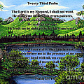 Twenty-third Psalm And Twin Ponds by Barbara Griffin