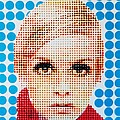 Twiggy Blue Dot  by Grant  Swinney